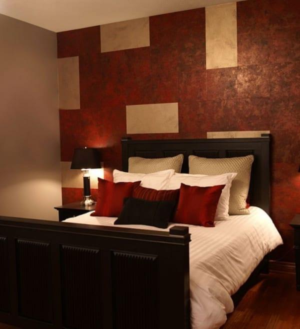 Schlafzimmer Rot-wand Deko Idee Schlafzimmer