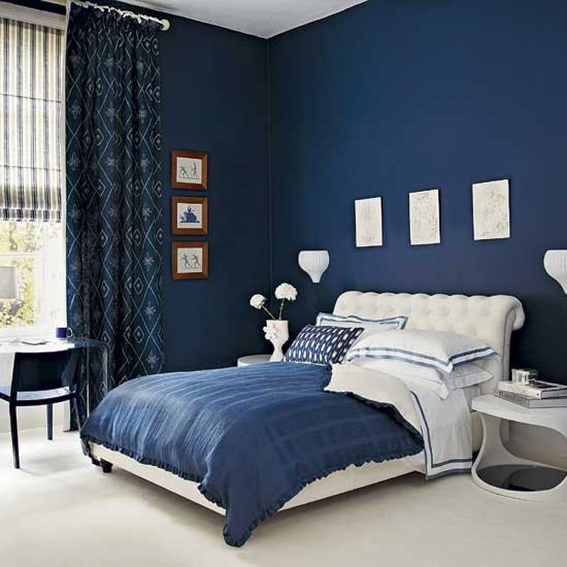 Hervorragend Schlafzimmer Wandfarbe Blau