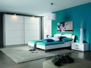 schlafzimmer wandfarbe-blaues schlafzimmer