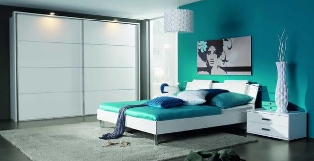 schlafzimmer wandfarbe-blaues schlafzimmer - fresHouse
