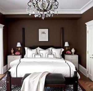 schlafzimmer wandfarbe braun