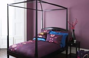 schlafzimmer wandfarbe-lila wandfarbe