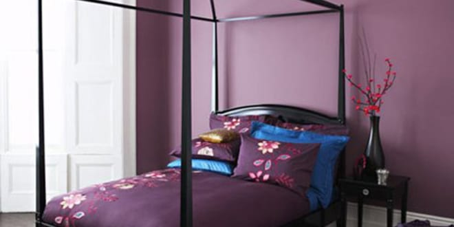 schlafzimmer wandfarbe lila wandfarbe freshouse. Black Bedroom Furniture Sets. Home Design Ideas