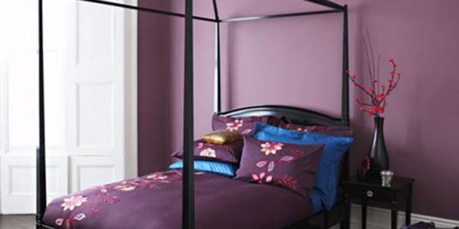Uberlegen Schlafzimmer Wandfarbe Lila Wandfarbe