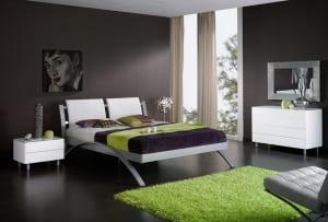 schlafzimmer wandfarbe-schwarze wand