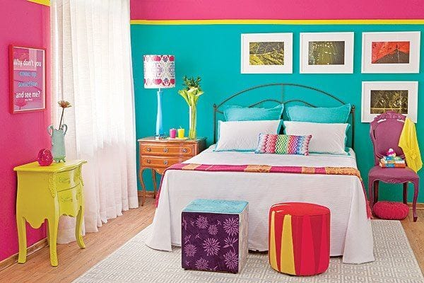 schlafzimmer wandfarbe-wandmuster streichen - fresHouse