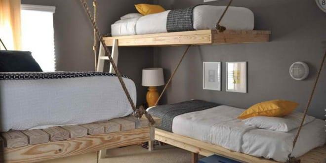 Schlafzimmergestaltung-Wandfarbe Grau - Freshouse