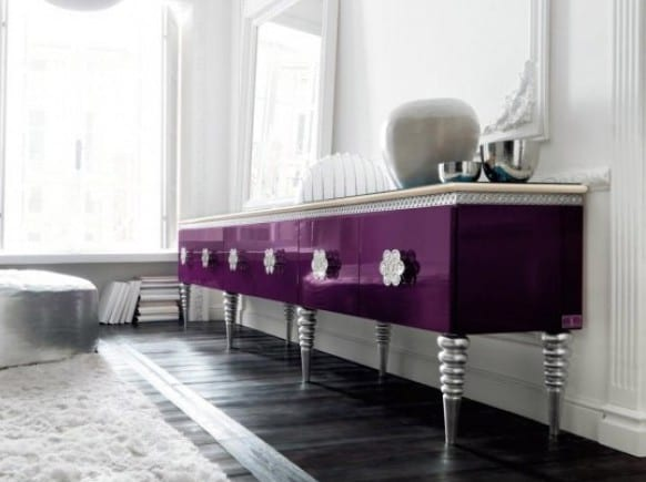 sideboard dekorieren-sideboard lila - fresHouse Stil