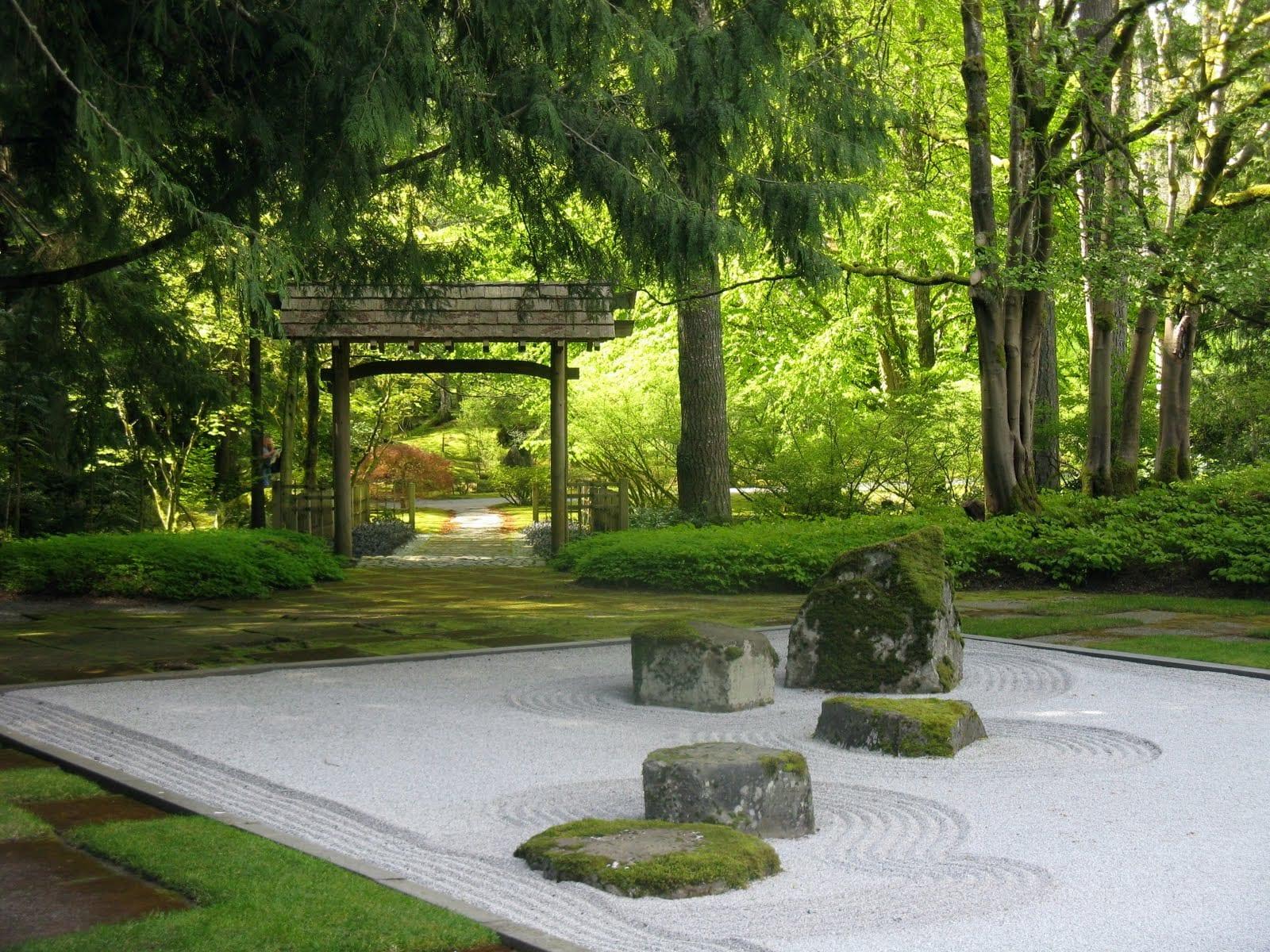 steingarten zen garten