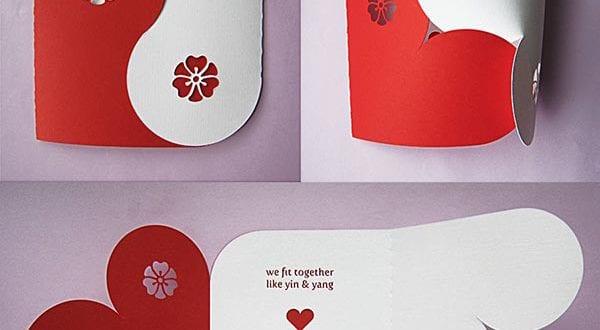 valentinstag karte- coole DIY karte yum valentinstag - fresHouse