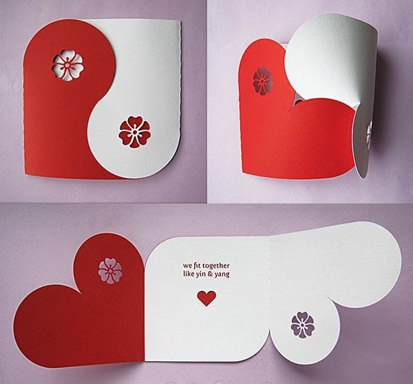 Valentinstag Karte  Coole DIY Karte Yum Valentinstag