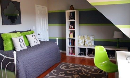 Uberlegen Wände Streich Idee In Grau Und Grün