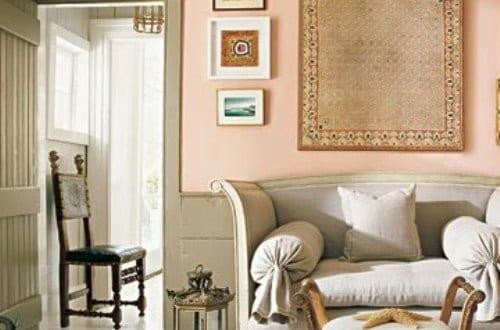 Wand bemalen mit wandfarbe apricot freshouse - Wandfarbe apricot ...