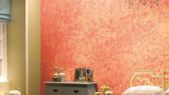 Wand streichen idee mit wandfarbe apricot freshouse - Idee wand streichen ...