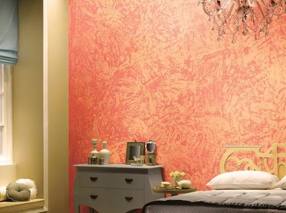 wand streichen idee mit wandfarbe apricot - fresHouse