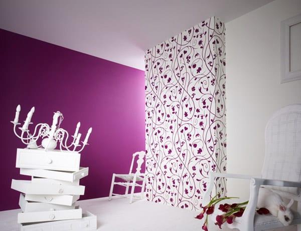 Fantastisch Wand Streichen Ideen  Wohnzimmer Lila