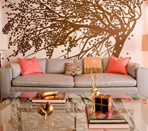 Wandfarbe Apricot Wohnzimmer Gestalten