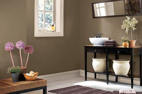 wandfarbe braun-badezimmer streichen ideen - fresHouse