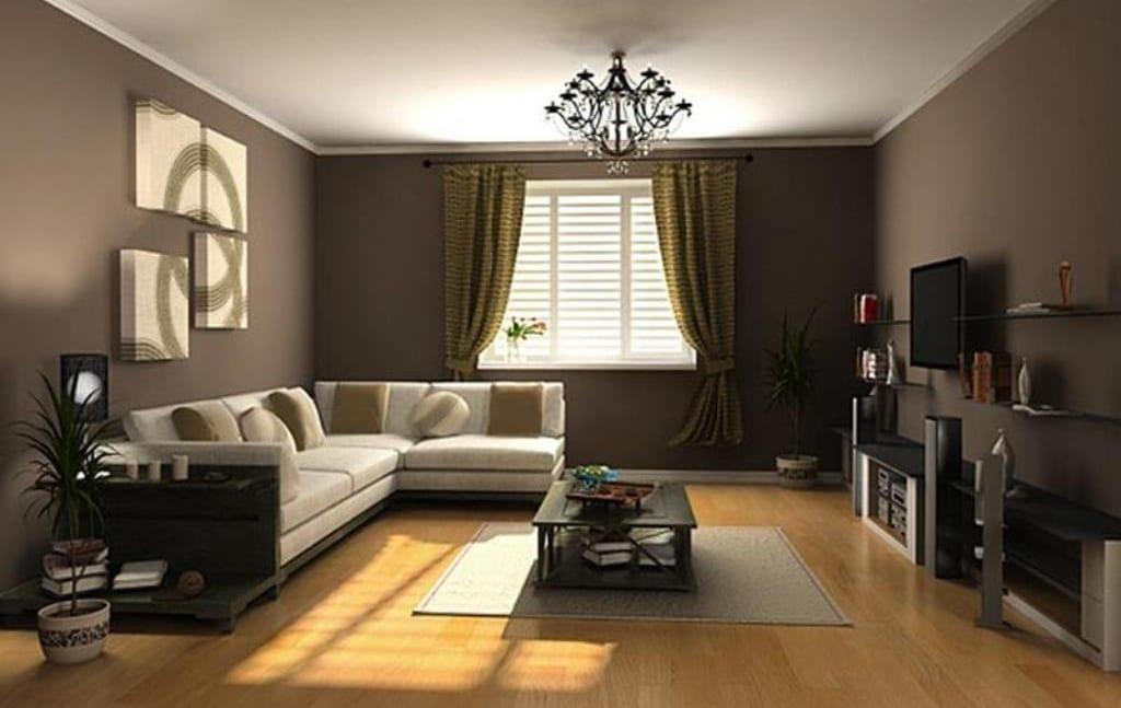 Wandfarbe Braun Für Wohnzimmer Braun