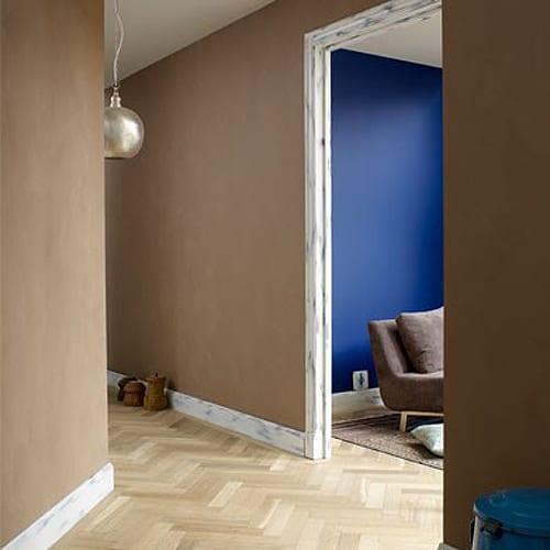 Wandfarbe Braun-Farbgestaltung Flur - Freshouse
