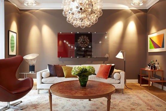 Wandfarbe Braun Ideen Für Wandgestaltung