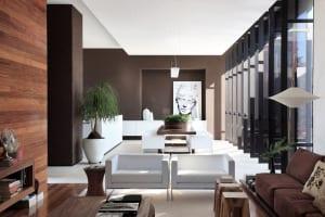 wandfarbe braun-luxus wohnzimmer