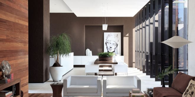Wandfarbe braun luxus wohnzimmer freshouse - Wandfarbe braun ...
