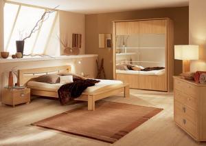 wandfarbe braun-modernes schlafzimmer