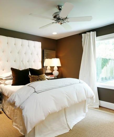 Wandfarbe Braun Schlafzimmer Gestalten