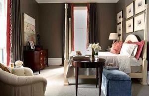 wandfarbe braun - schlafzimmer wandfarbe