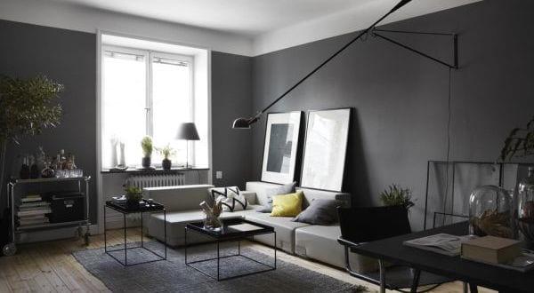 wandfarbe grau-modernes wohnzimmer - fresHouse