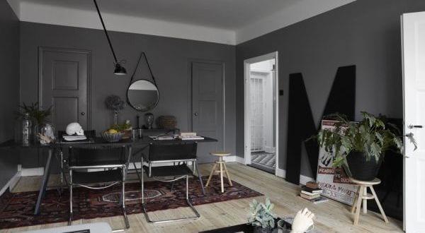 Wandfarbe grau wohnzimmer streichen ideen freshouse - Wandfarbe esszimmer ...