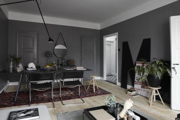 wandfarbe grau wohnzimmer streichen ideen - Wohnzimmer Grau