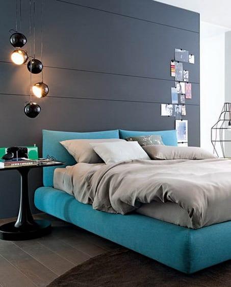 Wandfarbe Grautöne-schlafzimmer Grau
