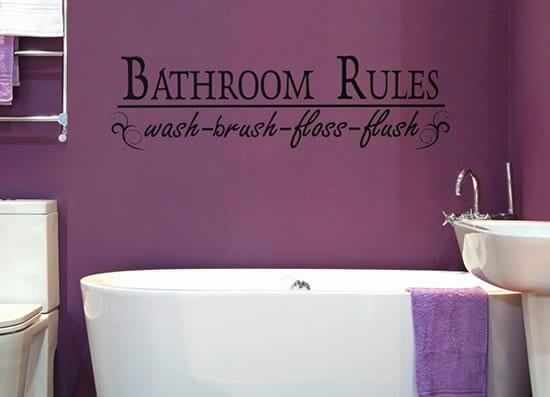 Wandtattoo Spruche Badezimmer Freshouse