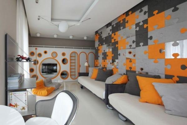 Wanfarbe Grau Modernes Kinderzimmer Gestalten Freshouse