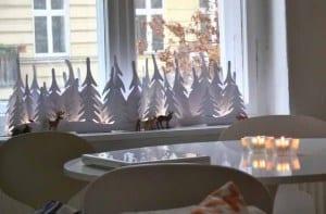 weihnachts deko-fensterbank dekorieren