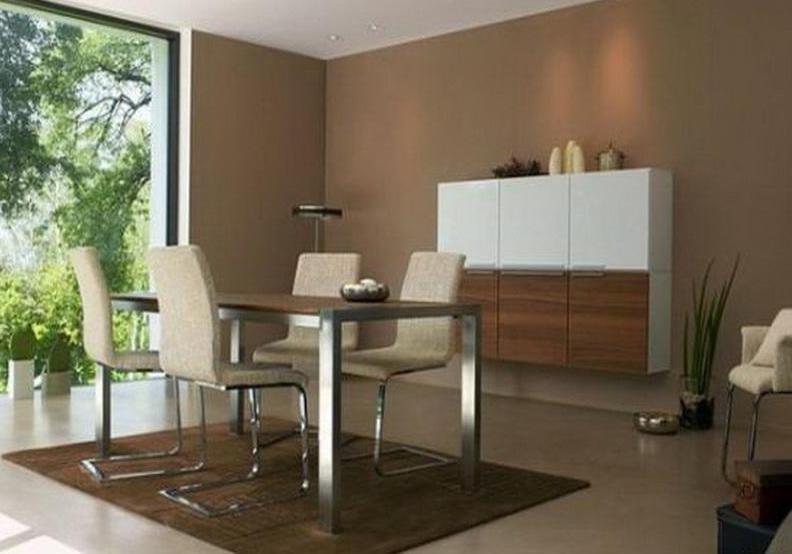 wohn esszimmer braun freshouse. Black Bedroom Furniture Sets. Home Design Ideas