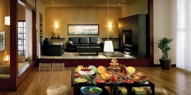 Wohn Esszimmer-Stylisches Wohnzimmer Asiatischer Stil - Freshouse