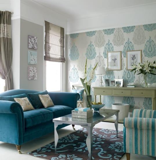 Wohnzimmer Blau Sch Nes Wohnzimmer Idee FresHouse