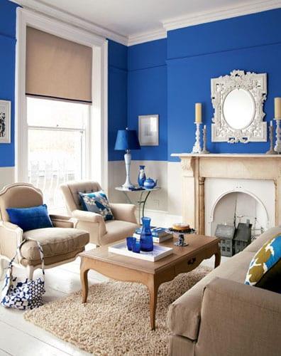 wohnzimmer blau-schönes wohnzimmer - fresHouse