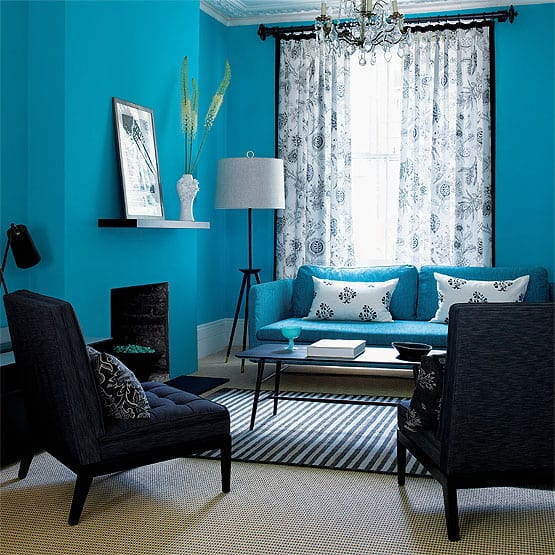 wohnzimmer blau wand streichen idee freshouse. Black Bedroom Furniture Sets. Home Design Ideas
