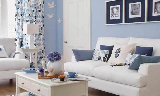 wohnzimmer blau-zimmer streichen ideen - freshouse - Wohnzimmer Mit Blau