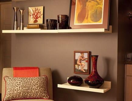 wohnzimmer braun-ideen für wandgestaltung - fresHouse