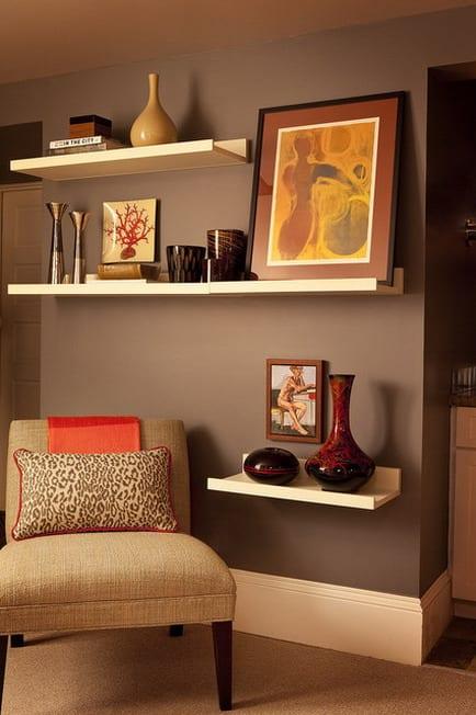 GroBartig Wohnzimmer Braun Ideen Für Wandgestaltung