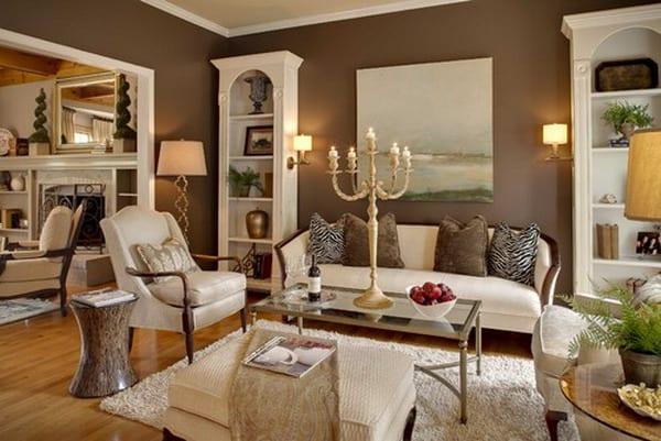 wohnzimmer braun inspirationen freshouse. Black Bedroom Furniture Sets. Home Design Ideas