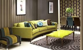 wohnzimmer braun mit sofa grün - fresHouse