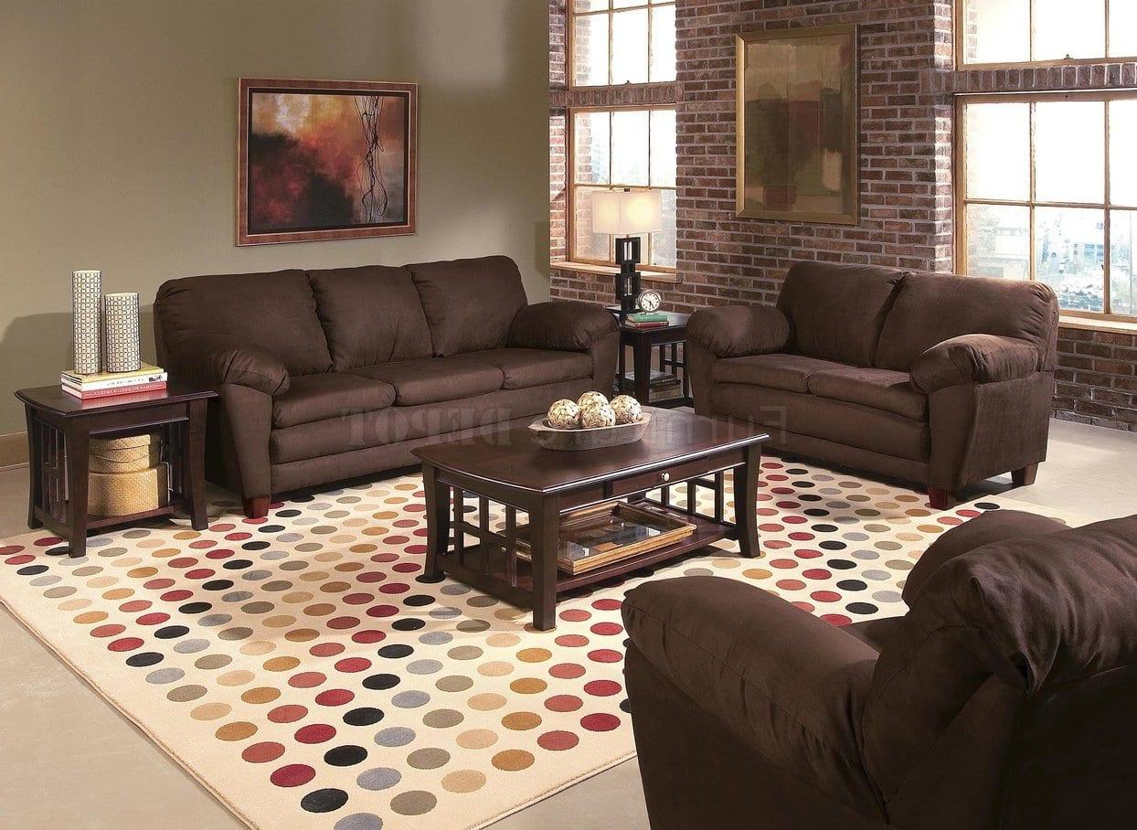 Wohnzimmer braun mit wandfarbe gr nt ne freshouse - Wandfarbe braun ...
