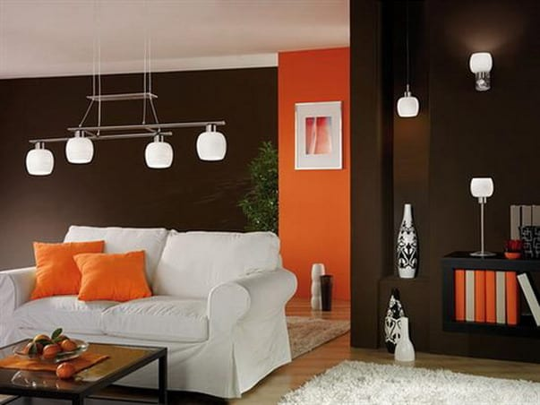 awesome wohnzimmer braun orange pictures - house design ideas ... - Orange Wand Wohnzimmer