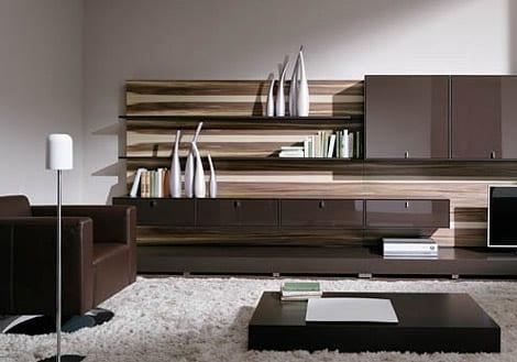 Wohnzimmer Braun Mit Wohnwand Braun FresHouse